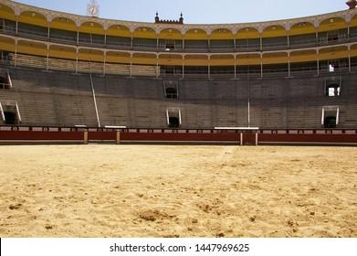 Madrid/Spain - 05/12/2019  photo off Plaza de Toros de Las Ventas, from outside this bullfighting stadium