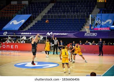 Madrid,Spain; 15/10/2020: basketball match between Movistar Estudiantes vs Herbalife Gran Canaria