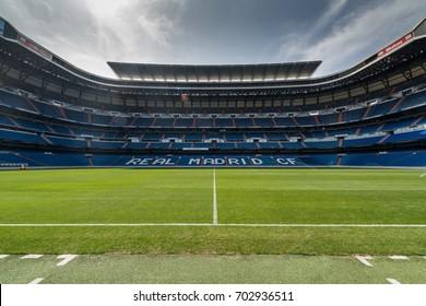 MADRID,SPAIN - August 25, 2017: Santiago Bernabeu stadium, the official arena of FC Real Madrid