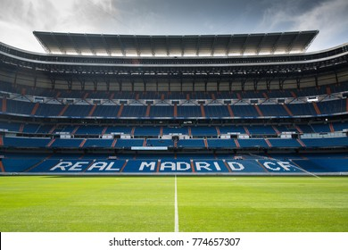 MADRID,SPAIN - August 25, 2017: Santiago Bernabeu stadium, the official arena of FC Real Madrid