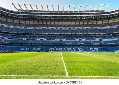 MADRID,SPAIN - CIRCA MARCH 2016: Santiago Bernabeu stadium - the official arena of FC Real Madrid