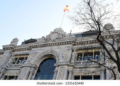 MADRID-SPAIN-FEB 19, 2019:  The Bank of Spain is the central bank of Spain. Established in Madrid in 1782 by Charles III, today the bank is a member of the European System of Central Banks.