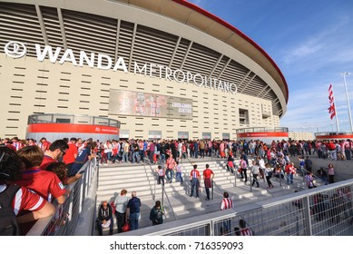 MADRID,SPAIN-SEPTEMBER 16: Inauguration of the New Stadium of Atletico de Madrid Wanda Metropolitano, on September 16 2017 in Madrid, Spain.