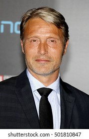Mads Mikkelsen at the World premiere of 'Doctor Strange' held at the El Capitan Theatre in Hollywood, USA on October 20, 2016.