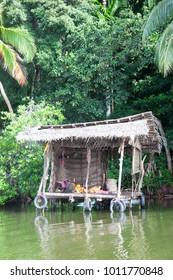 Madu Ganga, Balapitiya, Sri Lanka - Having a break at a traditional river shop during a boat safari