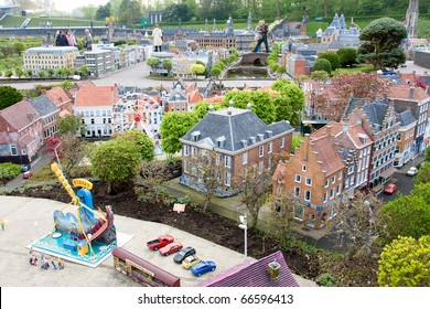 Madurodam - city of miniature at the Hague in Netherlands