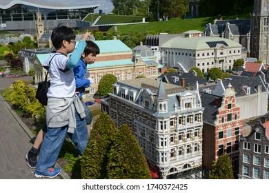 Madurodam, The Hague, Netherlands. July 2015. The miniature park of Madurodam