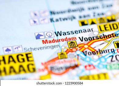 Madurodam. Netherlands on a map