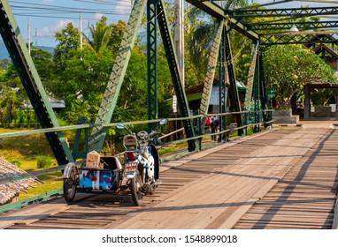 Mae Hon Son, Thailand - October 29 2019 : Memorial Bridge (Sapan Tha Pai), Pai