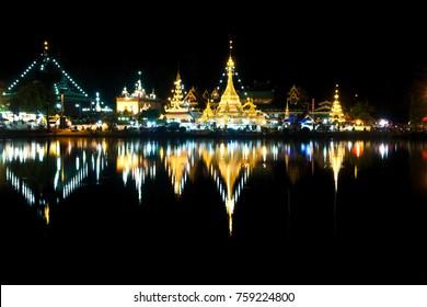 Mae Hong Son Walking street , Night market , Mae Hong Son, North of Thailand