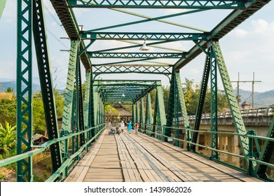MAE HONG SON,THAILAND - JANUARY 31,2017 ; Tha Pai world war 2 memorial bridge,it was built by Japanese soldier to transport armoury and supples to Myanmar,located in northern Thailand of Pai District.