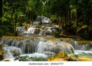 Mae Kae Water Fall in Ngao, Lampang, North ofThailand.