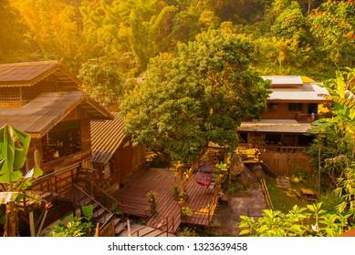 Mae Kampong  Homestay Village, Chiang Mai Thailand  Local road to Mae Kampong Village in the morning.