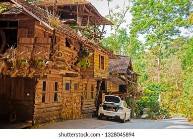 Mae Kampong  Homestay Village, Chiang Mai Thailand  Local road to Mae Kampong Village in the morning