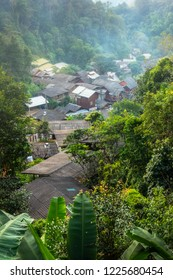 Mae Kampong the villages in valley in northern, Chiangmai Thailand. Ecotourism with surrounded by mountains and nature