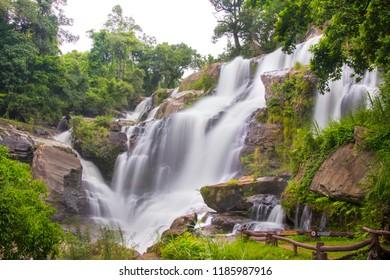 Mae Klang Waterfall, Doi inthanon national park, Chomthong, Chiang Mai, Thailand.