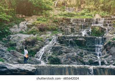 Mae Plun waterfalls in Laplae town is one of the famous tourist attraction place of Uttaradit the northern province of Thailand.