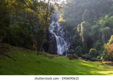 Mae Tia Waterfall is the most beautiful waterfall in Ob Luang National Park,Doi Kaeo, Chom Thong,Chiang Mai ,Thailand