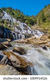Mae Ya waterfall it beautiful most famous in Doi Inthanon National Park Chiang mai,Thailand.