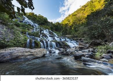 Mae Ya Waterfall, Inthanon Mountain, Chianmai, Thailand, North of Thailand, Thailand Mountain