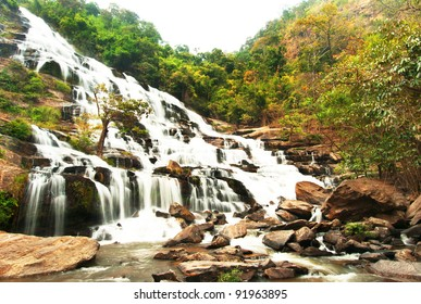 Mae Ya waterfall is tourist attraction in Chiang Mai