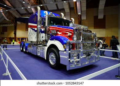 MAEPS, Selangor, Malaysia – 23 March 2018: Special edition of Mack Super-Liner Truck presented at Malaysia Bike Week 2018 Parade of Motorcycles in MAEPS, Serdang, Selangor, Malaysia.