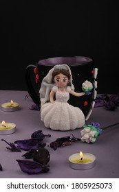 mag bride made of polymer clay