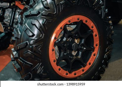 Mag wheel for atv 4wd.Tyres close up.