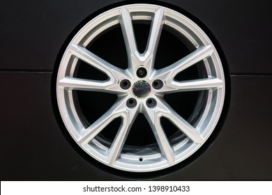 Mag wheel for car on the shelf. Magnesium alloy wheel. Car Accessories.