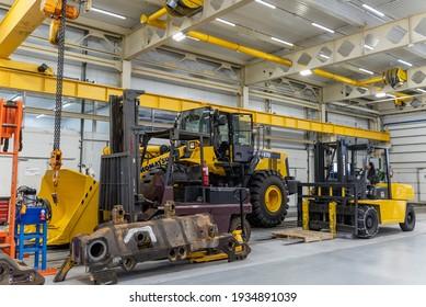 Magadan, December 12, 2020. This photo shows the Rebuild mining equipment repair plant, a subsidiary of Komatsu.