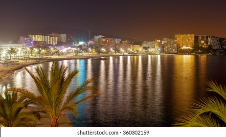 Magaluf Beach at Night