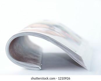 Magazine Arc. Side view. Soft Focus.