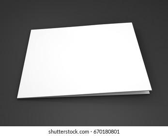 Magazine, book, booklet or brochure mock up. 3D rendering