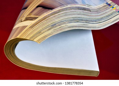 The magazine is a paper printed periodical, on a red creative background. The journal has a permanent rubrication and contains articles, abstracts of socio-political, scientific, industrial, literary