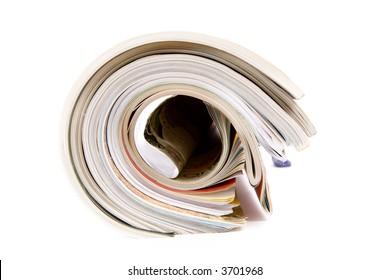 Magazine roll (very shallow dof).