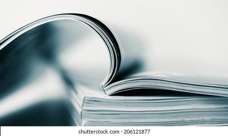 Magazines up close
