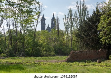 Magdeburg, Germany - April 30, 2019: View of the cathedral of Magdeburg, Germany.