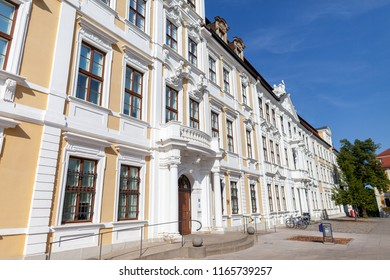 MAGDEBURG / GERMANY - AUGUST 22, 2018: German state parliament of Saxony-Anhalt in Magdeburg / Germany