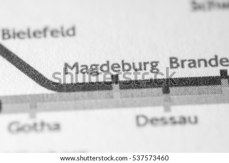 Magdeburg Germany On Geographical Map Stock Photo Edit Now