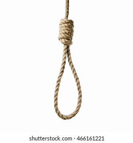 mage hanging rope to Lynch's loop on a white background