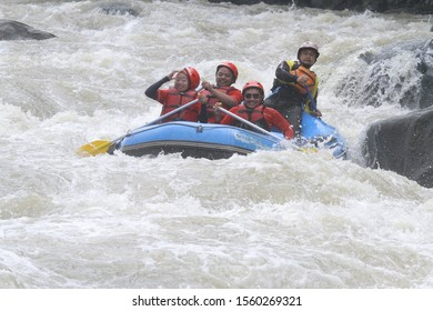 Magelang. Magelang, Central Java, Indonesia. 03 February 2018. This photo was taken during the Rafting vacation on the Progo River.