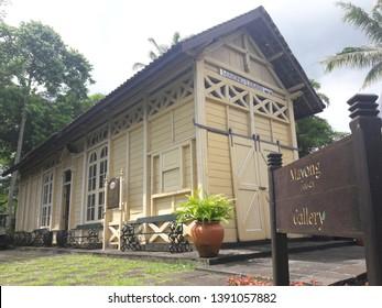 Magelang, Central Java, Indonesia - February 7th, 2019 : Original Mayong-Losari Heritage Train Station is becoming Hotel Lobby at Mesastilla Hotel and Resort of Magelang