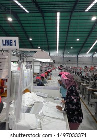 Magelang, Central Java of Indonesia, September 2nd 2019. A lots of ladies are work at clothing factory. Employment options in Indonesia is getting better, the payroll is much better now