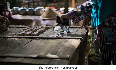 Magelang, Central Java/Indonesia - November​ 17, 2019 : Business activities in a traditional market in Central Java Indonesia.