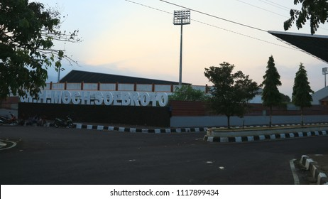 Magelang, Indonesia - June 16, 2018: Dr H Moch. Soebroto Stadium (previously Stadion Madya Magelang) is a football stadium in Central Java with a 20,000 seating capacity.