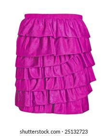 magenta summer skirt