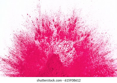 magenta toner on white background