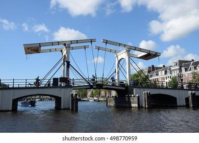 magere brug, Amsterdam, holland
