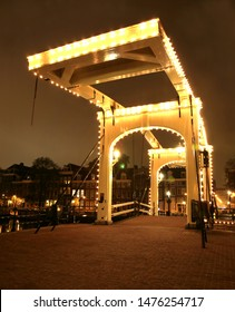 Magere Brug over canal in Amsterdam