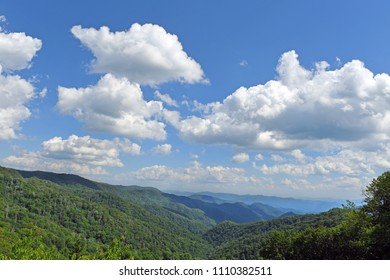 Magestic view at the Great Smoky Mountains National Park